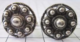 Manchetknopen Zeeuwse knop zwaar verzilverd, 20 mm doorsnede, prijs per paar ZKG415