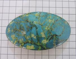HAO 412 Haarspeld ovaal amandelbloesem Vincent van Gogh