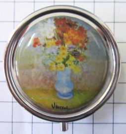 PIL410 pillendoosje met spiegel bloemetjes Vincent van Gogh