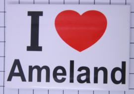 koelkastmagneet I ♥ Ameland N_FR9.001
