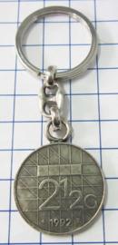 MSLE010 sleutelhanger rijksdaalder zwaar verzilverd, jaartal 1992