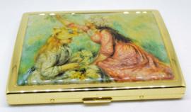 Echt vergulde sigarettendoos met afbeelding van Auguste Renoir
