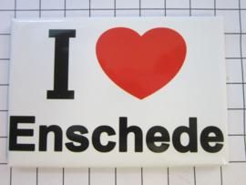 koelkastmagneet I ♥ Enschede N_OV1.001