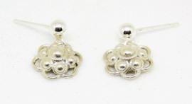 echt zilveren oorstekers Zeeuwse knopjes klein