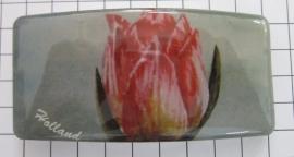 Haarspeld rechthoek HAR309, roze tulp