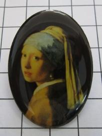 BRO 900 broche meisje parel Vermeer