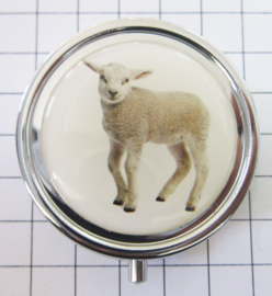 PIL 398 pillendoosje met spiegel lammetje