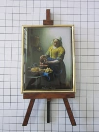 SCH 044 schildersezeltje 16 cm hoog Johannes Vermeer melkmeisje