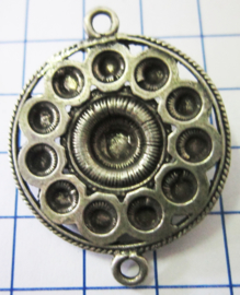 Zeeuwse knoop plat met rand 3 cm doorsnede, tweeoog ZB044