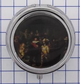 PIL308 pillendoosje met spiegel nachtwacht rembrandt