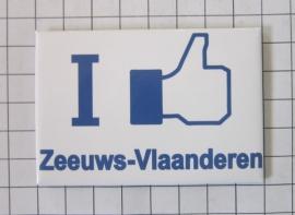 koelkastmagneet I like Zeeuws-Vlaanderen N_ZE3.002