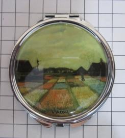 SPI 216 spiegeldoosje tulpenveld Vincent van Gogh