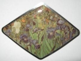 Haarspeld ruit irissen Vincent van Gogh HAD 001