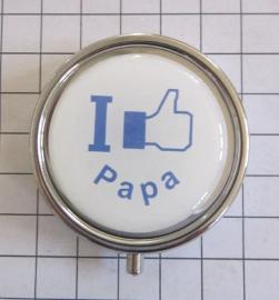 pil 044 pillendoosje met spiegel I like papa