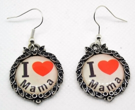 Oorbellen I love Mama,ean = 8718481420362
