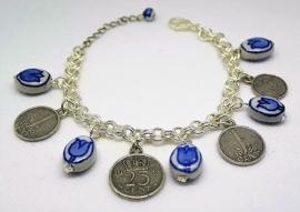 muntenarmband delftsblauw EAN 0087184815132   ARM 307