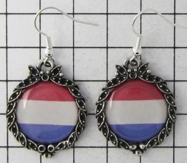 OOR 328  Oorbellen Nederlandse vlag