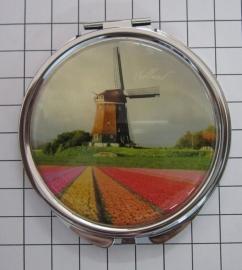 SPI 008 Spiegeldoosje molen tulpenveld