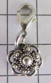 clip Zeeuws knopje oogjesrand zwaar verzilverd ZKG417