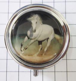 PIL 409 wit paard pillendoosje