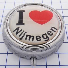 PIL 088 pillendoosje met spiegel ik hou van Nijmegen