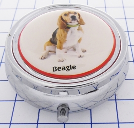 PIL 378 pillendoosje met spiegel beagle