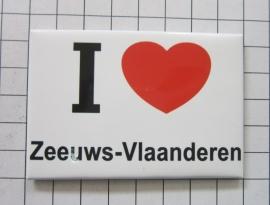 koelkastmagneet I ♥ Zeeuws-Vlaanderen N_ZE3.001