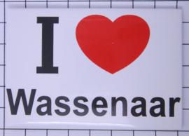 koelkastmagneet I ♥  Wassenaar N_ZH14.001