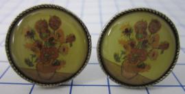 MAK 007 Manchetknopen Vincent van Gogh zonnebloemen