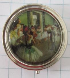 PIL 126 pillendoosje met spiegel dansschool Degas