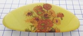 Haarspeld 8 cm ovaal HAO 415 zonnebloem Vincent van Gogh