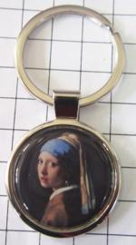 SLE303 Sleutelhanger Meisje met parel, Johannes Vermeer
