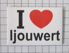 koelkastmagneet I ♥ Ljouwert N_FR2.501