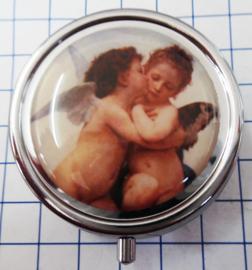 PIL516 pillendoosje met spiegel engeltjes