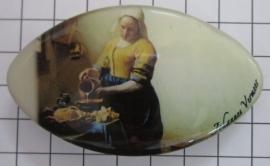 Haarspeld ovaal Klein melkmeisje Johannes Vermeer  HAK411
