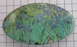Haarspeld 8 cm ovaal HAO 408 irissen Vincent van Gogh