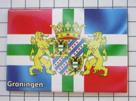 koelkastmagneet  vlag met wapen  Groningen N_GR1.009