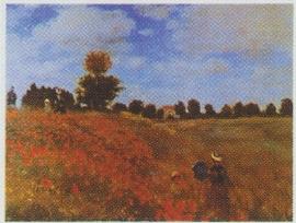 pak 50 stuks Kwaliteitsposters 35 x 45 cm Claude Monet -klaprozenveld