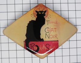 Haarspeld ruit Zwarte kat HAD 011