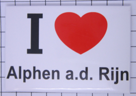 koelkastmagneet I ♥  Alphen a.d. Rjin N_ZH12.001