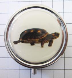PIL 401 pillendoosje met spiegeltje schildpad