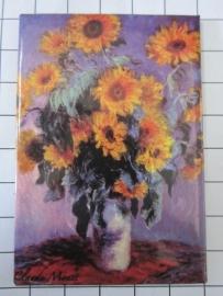 MAC: 20.450 Koelkast magneet zonnebloemen Claude Monet
