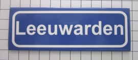 koelkastmagneet plaatsnaambord Leeuwarden P_FR2.0001