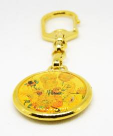 partijtje 10 stuks sleutelhanger zonnebloemen Vincent van Gogh