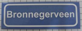 Koelkastmagneet plaatsnaambord Bronnegerveen