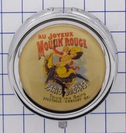 PIL 111 pillendoosje met spiegel affiche joyeux Moulin Rouge