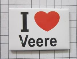 koelkastmagneet I ♥ Veere N_ZE4.501