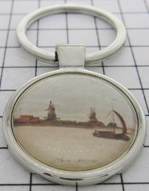 SLE302 Sleutelhanger zaanse schans Claude Monet