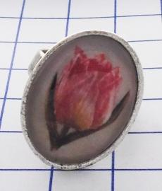 RIN 106 ring roze tulp