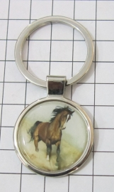 SLE 501 Sleutelhanger bruin paard